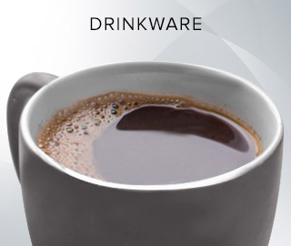 A picture of a mug of coffee. Click to shop drinkware.